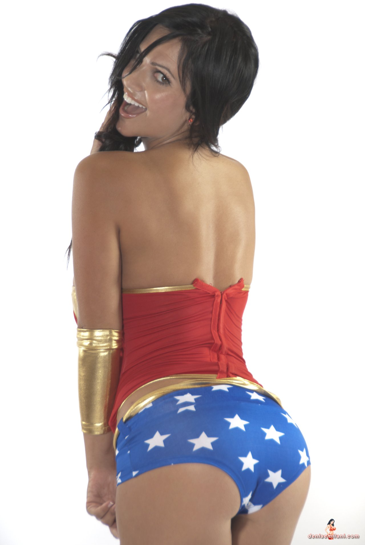 Denise Milani as Wonder Woman