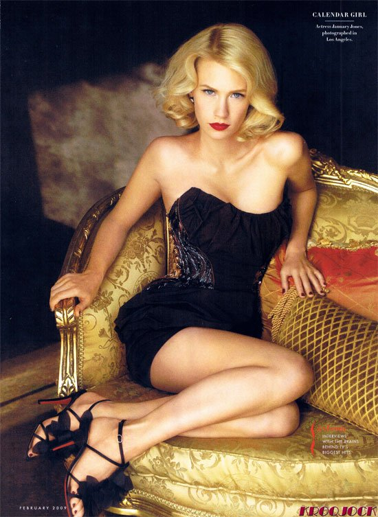January Jones Lingerie Picture
