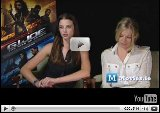 Rachel Nichols Video - GI JOE - Interview with Sienna Miller & Rachel Nichols